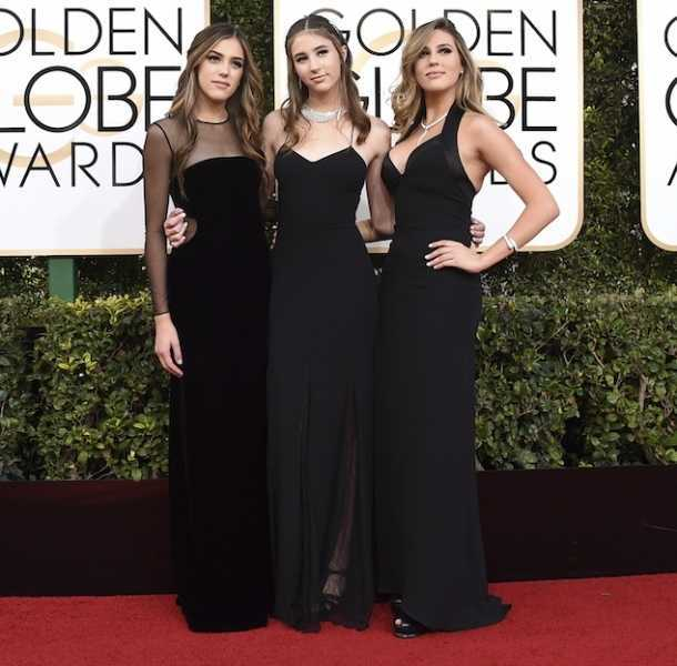 Las hijas de Sylvester Stallone, Sistine, Scarlet y Sophia, fueron Miss Golden Globes