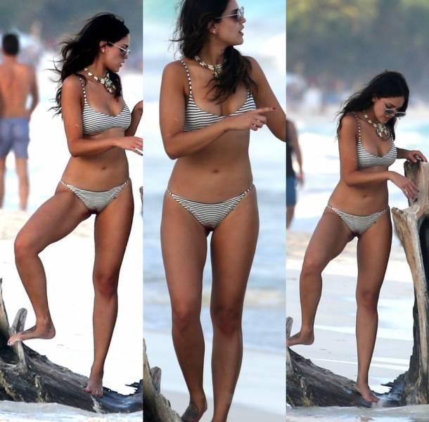 Eiza González sufrió la visita de su menstruación en bikini