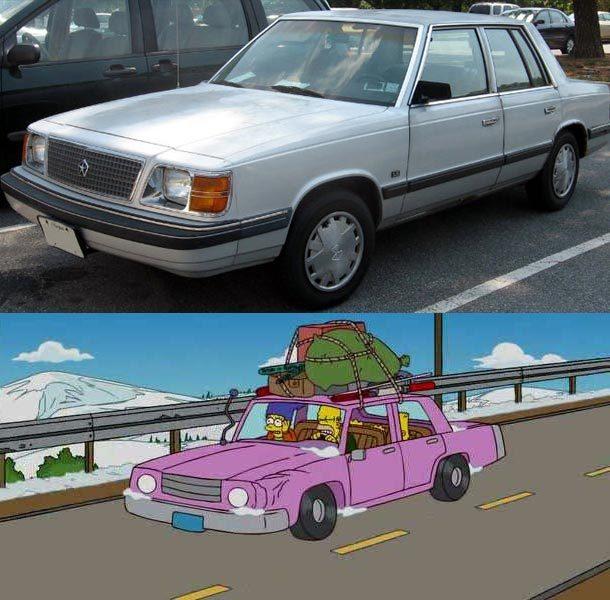 Revelan el modelo del automóvil de 'Los Simpson'