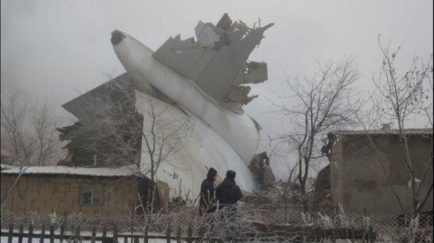 Accidente de avión de carga deja 37 muertos en Kirguistán