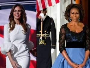 Michelle Obama vs Melania Trump,  estilos de moda diferentes.