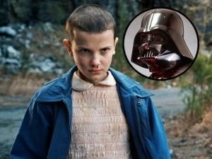 Stranger things star wars ilustracion Millie Bobby Brown espectaculos