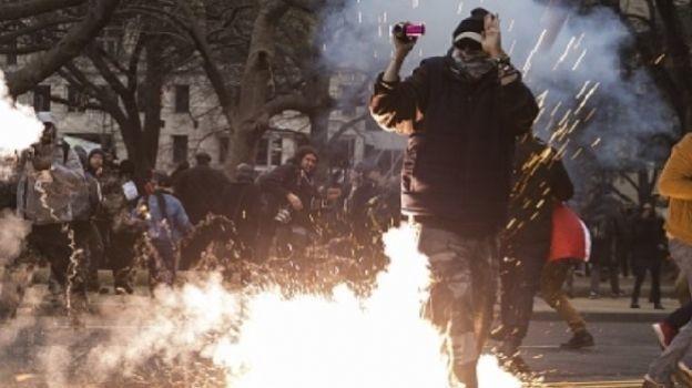 Suman 217 detenidos durante protestas Anti Trump en Washington