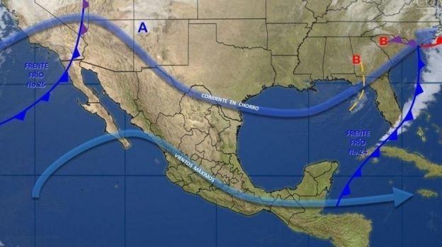 Frente frío 25 provoca tormentas en BC, Sonora y Chihuahua