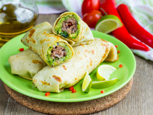 Burritos de carne con guacamole: Super Bowl a la mexicana