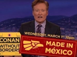 ¡Rompiendo fronteras! Conan O'Brien grabará episodio en México