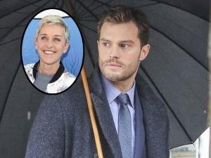 ¡OMG! Ellen DeGeneres se mete en la cama con Jamie Dornan (VIDEO)