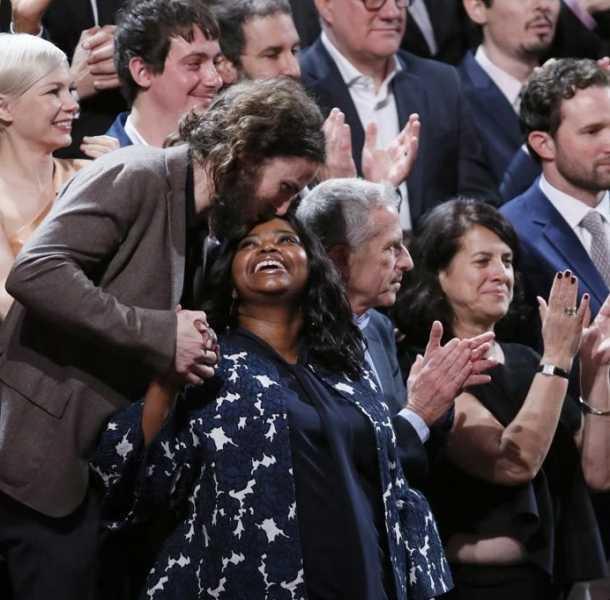 Los nominados a los Premios Oscar 2017 durante el tradicional almuerzo