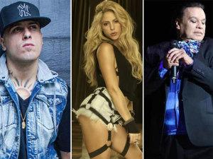 Shakira, Juan Gabriel y Nicky Jam se enfrentan en Premios Billboard 2017