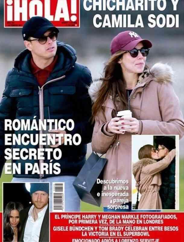 Chicharito se comió a besos a Camila Sodi en París