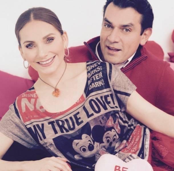 Jorge Salinas y Elizabeth Álvarez celebraron San Valentín junto a sus mellizos
