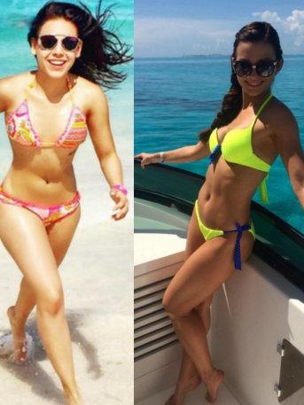 ¡Bellas y sensuales! Guerra de bikinis: Danna Paola vs Irina Baeva