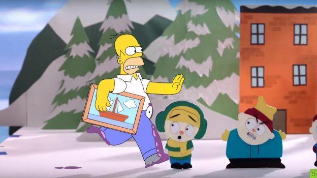 'Los Simpson' se unen a 'South Park' en nuevo video
