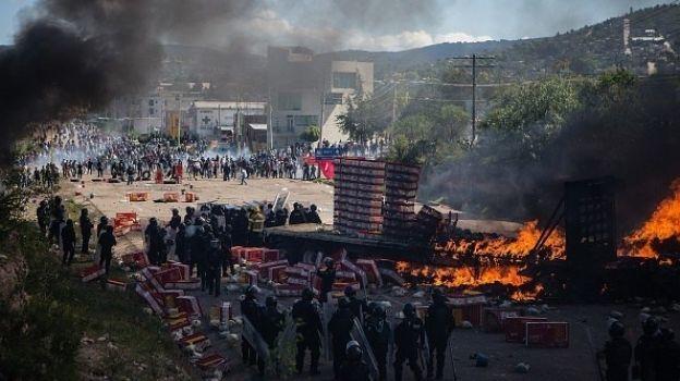 CNDH documenta que policías estatales en Nochixtlán iban armados