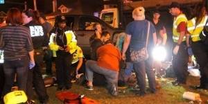 Auto arrolla a multitud en Nueva Orleans; 28 heridos