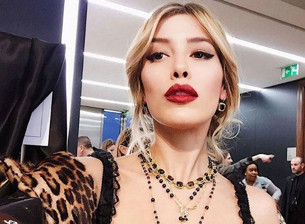 Michelle Salas hizo su debut como top model en el Fashion Show de Milán