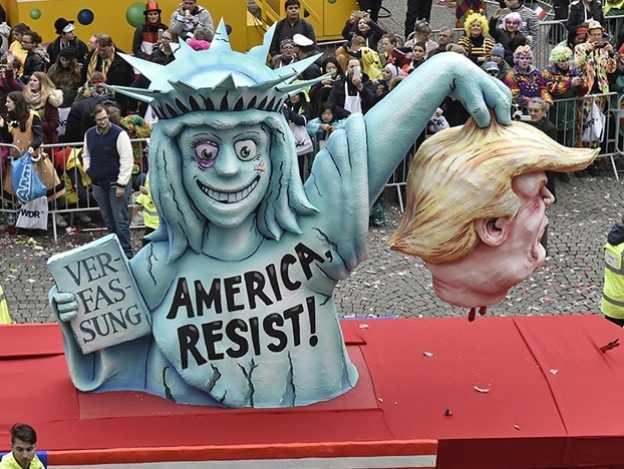 Trump, el más parodiado en el carnaval de Alemania
