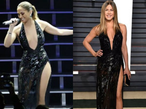 ¡Ouch! 2 Jennifer, mismo gusto: Aniston y Lopez usan el mismo vestido