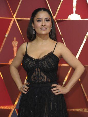 ¡Orgullo mexicano! Salma Hayek lleva mariachi a fiesta de Premios Oscar (FOTOS+VIDEO)