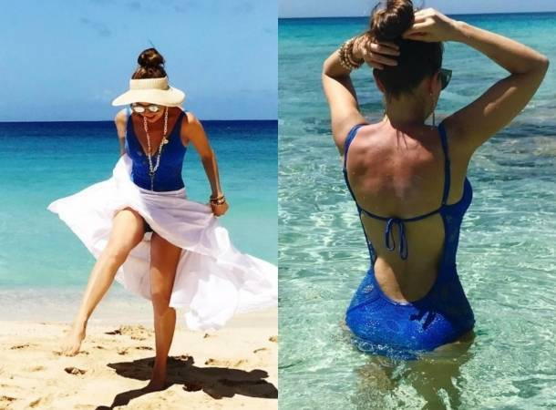 Thalía mostró cuerpazo en redes sociales