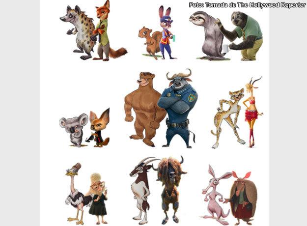Dibujos de los personajes demuestran la similitud en la demanda contra Disney y Zootopia