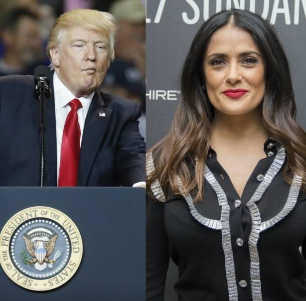 Salma Hayek llamó mentiroso a Donald Trump