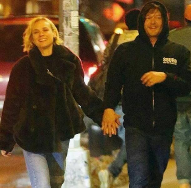 Diane Kruger y Norman Reedus protagonizan un nuevo romance