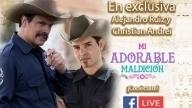 Alejandro Ruiz y Christian Andrei a través de Facebook Live