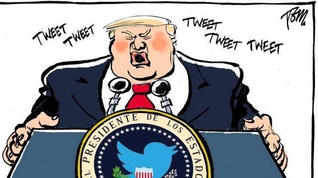 Exposición en Barcelona muestra a Trump desde la óptica del cómic