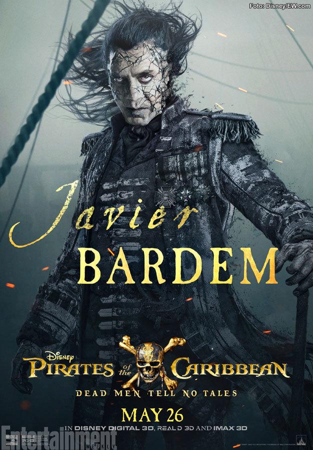 Javier Bardem buscará venganza como Salazar en Piratas del Caribe 5
