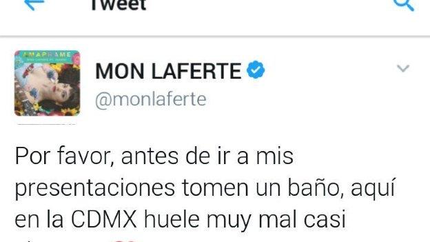 ¡La hackean! Mensaje en Twitter de Mon Laferte ataca a mexicanos
