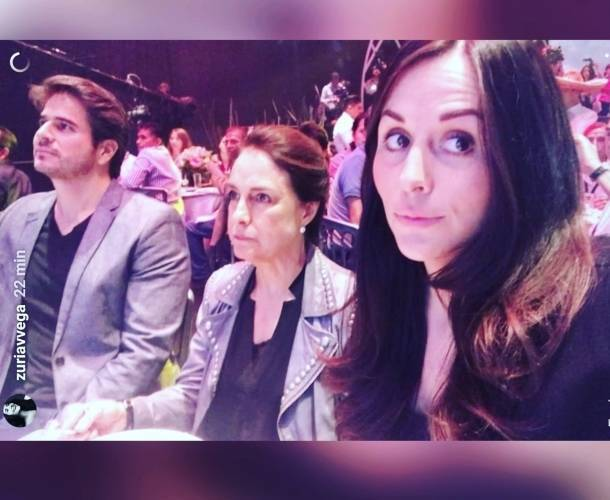 Zuria Vega durante el evento especial de 'Mi Marido Tiene Familia'