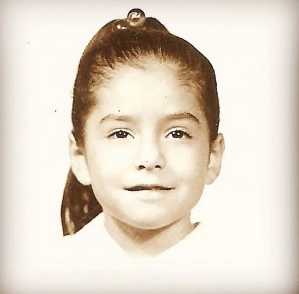 Paty Manterola era una niña muy dedicada y lucía hermosa en su infancia
