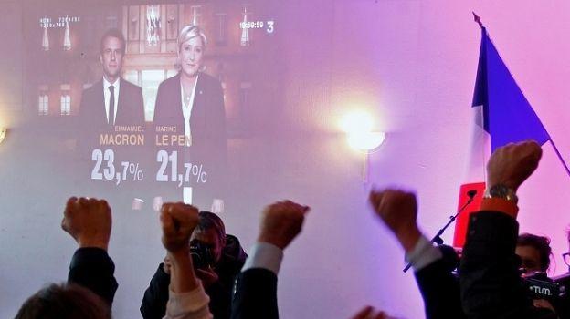 Macron y Le Pen disputarían la segunda vuelta en las elecciones en Francia