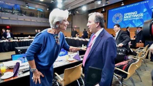 Meade sostiene encuentro con presidente del BM y directora del FMI