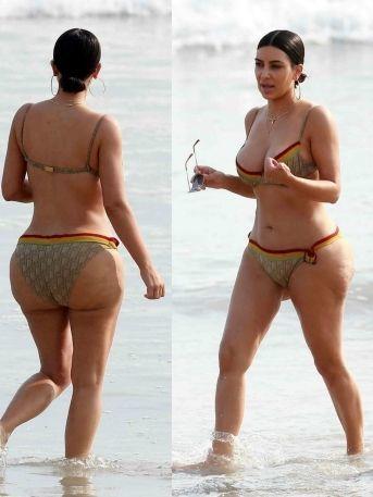 FOTOS: Kim Kardashian impacta con diminuto bikini...¡Y con celulitis en su trasero!