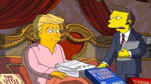 Los Simpson bromean sobre los primeros 100 días de Trump