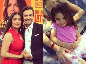 FOTO: ¡Mira cómo enamora Aitana, hija de Eugenio Derbez, a Salma Hayek!