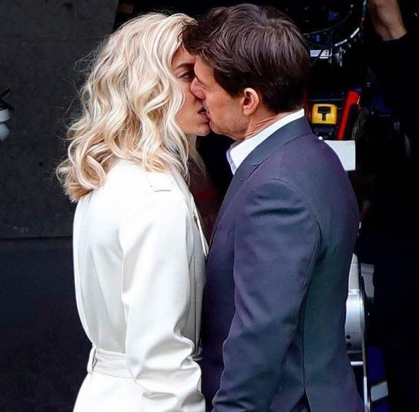 Vanessa Kirby y Tom Cruise son captados filmando