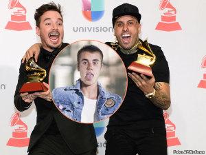 J Balvin y Nicky Jam se burlan 'des-pa-ci-to' de Justin Bieber (VIDEO)