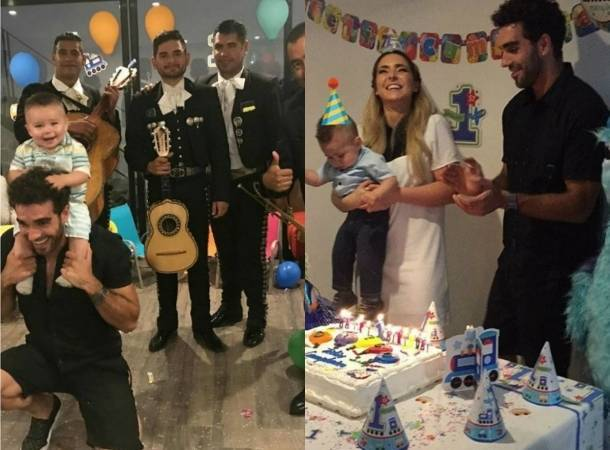 Ariadne Díaz celebró el primer cumpleaños de su hijo Diego