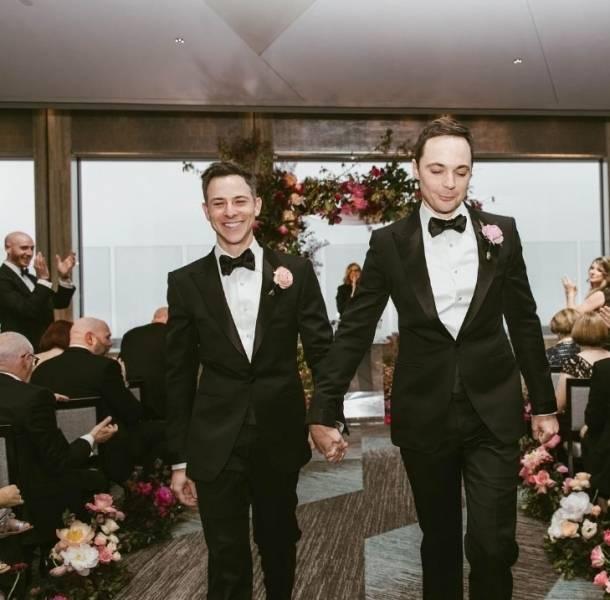 Jim Parsons, de The big Bang Theory, se casó este fin de semana en Nueva York