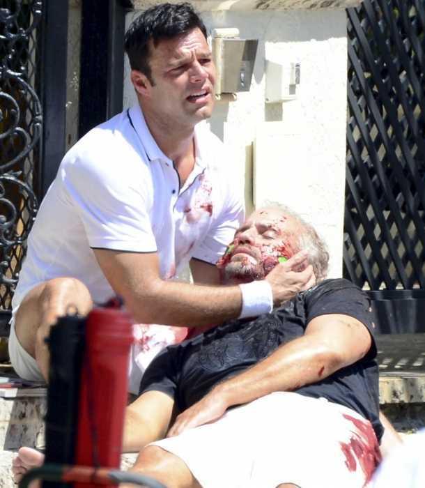 Ricky Martin recibe sorpresa durante la filmación de
