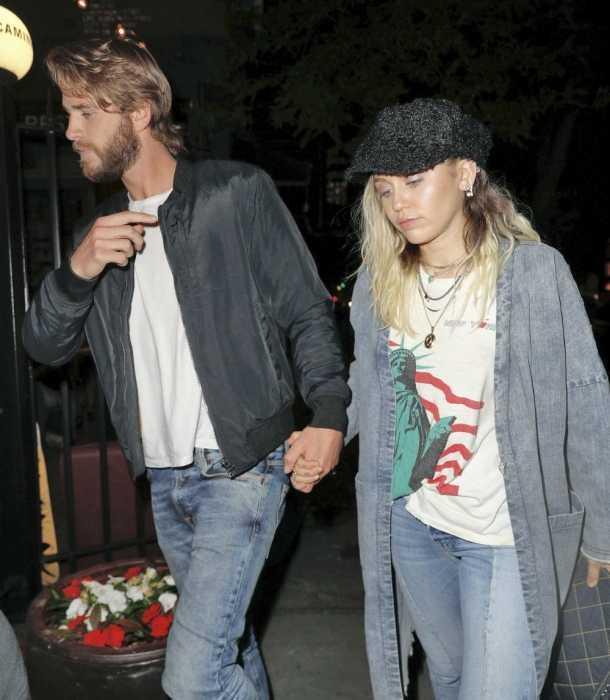 Miley Cyrus está en Nueva York con Liam Hemsworth