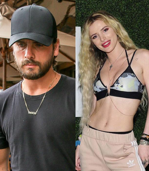 Scott Disick y Bella Thorne son captados en una ardiente cita