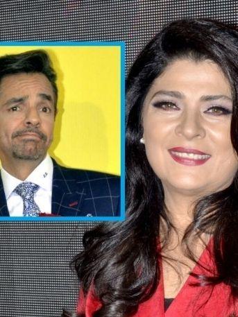 ¡Victoria Ruffo revela por qué cortó a Eugenio Derbez en la foto!