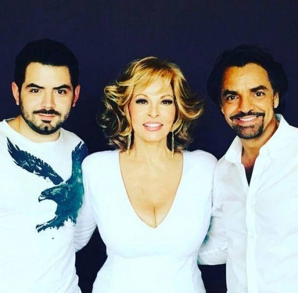 Victoria Ruffo cortó de una foto a Eugenio Derbez