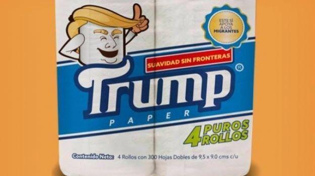 Así es el papel de baño marca Trump que creó un mexicano