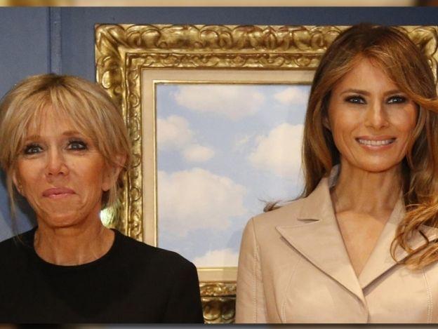 Melania Trump y Brigitte Macron, protagonizan cumbre de la OTAN