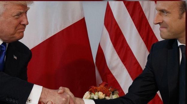 Macron sostuvo apretón de manos a Trump para no mostrar debilidad